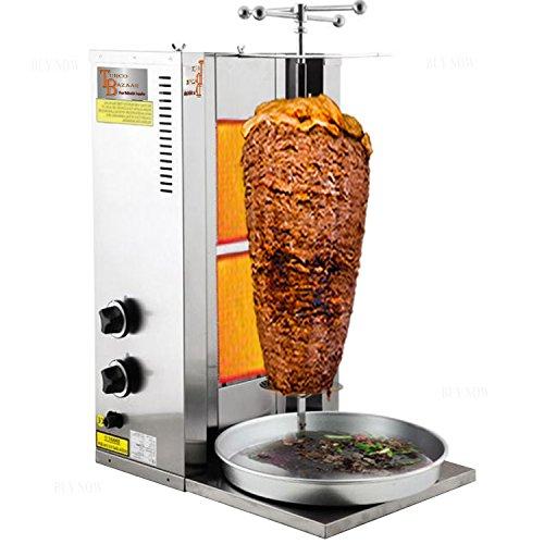 TurcoBazaar Kebab Machine Doner Machine Doner Kebab Grill Machine 2 Stove Propane