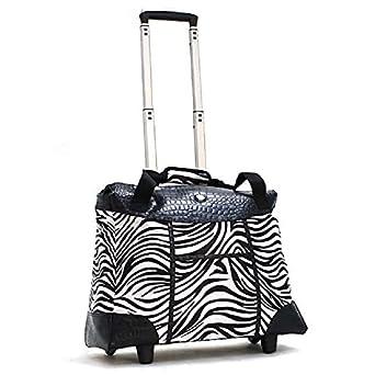 f6af01cbfaa6 Amazon.com: African Safari Zebra Themed Carry On Rolling Foldable ...