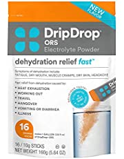 DripDrop ORS Electrolyte Hydration Powder Sticks 8 Oz Servings