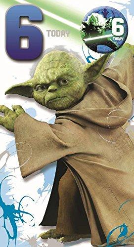 Star Wars Yoda Kinder Ab 6 6 Geburtstag Mit Button Amazon De
