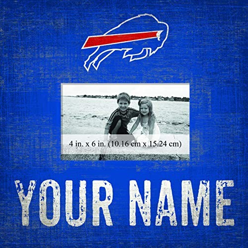 Sidekick Customs Buffalo Bills Personalized Team Color 10x10 Frame ()
