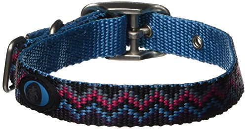 Hamilton 5/8-Inch by 14-Inch Single Thick Nylon Deluxe Dog Collar, Ocean Blue Weave ()
