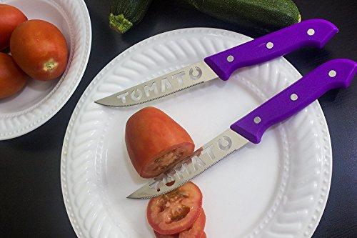 Brandobay Stainless Steel Tomato Slicer Knives Set (colors may vary ) by Brandobay (Image #5)