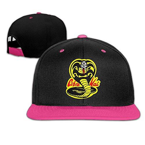 Contrast Color Hip Hop Baseball Cap Cobra Kai The Adjustable Trucker Hat (Cobra Baseball)