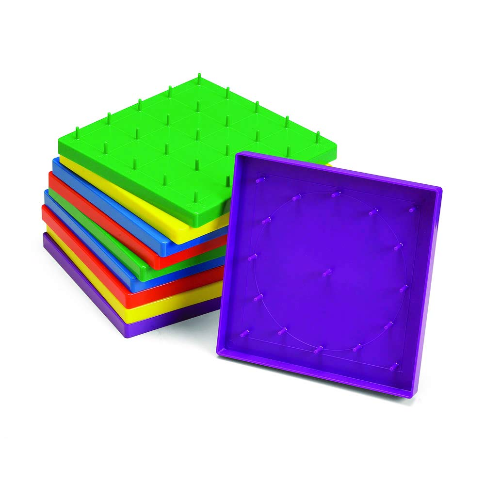 hand2mind Double-Sided Geoboards (Set of 10)