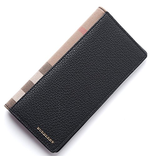 Burberry Uni Black Leather Cavendish Travel Wallet (Burberry Wallet Men)