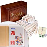 "American Mahjong (Mah Jong, Mahjongg, Mah-Jongg, Mah Jongg, Majiang) 166 Tile Set in Rosewood Box, ""The Water Margin"""