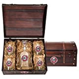 Ohio State University Buckeyes Wood Chest Set with Decanter and glasses