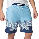 Chaps Mens Tropical Swim Trunks, Sutton Blue, X-Large Tall