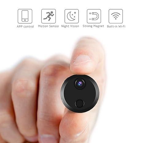Hootracker Mini Cámara espía, Espía Cámara Oculta 1080P HD Portátil Interior/Exterior WiFi Cámara IP Oficina Vision Nocturna Cámara Inalámbrica, ...