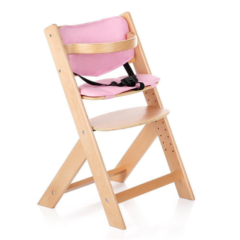 Amazon.com : IKAYAA Baby Wooden High Chair with Cushion ...