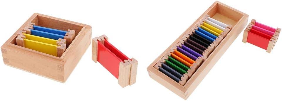 PETSOLA 2 Unidades Montessori Caja De Color De Madera para Niños Pequeños Aprendizaje De Juguetes Didácticos: Amazon.es: Juguetes y juegos