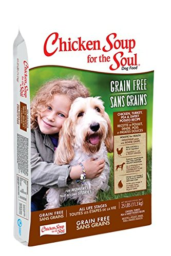 Chicken Soup for the Dog Lover's Soul Grain Free Chicken, Turkey, Pea and Sweet Potato Dry Formula - 4 lb bag ()