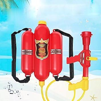 Niños Mochila de Fuego Mochila Pistola Playa Verano Juguetes de Agua Tiran de Alta Presión,Rojo: Amazon.es: Deportes y aire libre