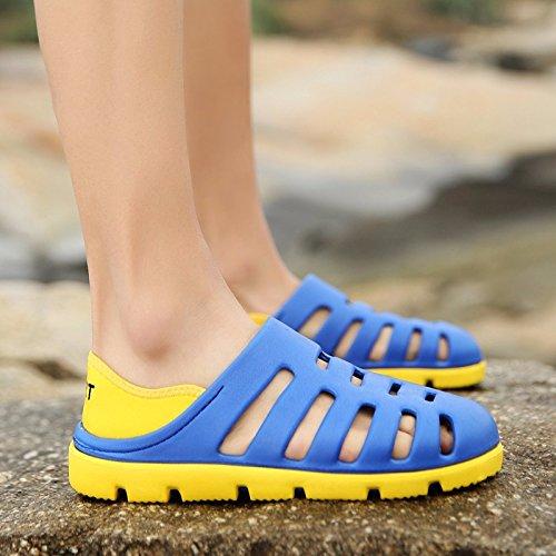 Das neue Sommer Strand Schuh Männer Atmungsaktiv Hohl Ultra-Licht Männer Sandalen Loch Schuh ,blau,US=8.5,UK=8,EU=42,CN=43
