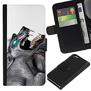 UNIQCASE - Apple Iphone 6 4.7 - Glowing Werewolf - Cuero PU Delgado caso cubierta Shell Armor Funda Case Cover