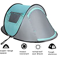2 Person Instant Automatic Pop Up Cabin Tent Water Rain...