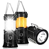 LED Camping Lantern - Portable Outdoor LED Flame Lantern Flashlights - Flyhoom 2 Pack 3-in-1 Camping Lantern for Hurricane, Storm, Power Outage, Hiking, Tent (Batteries Not Included)