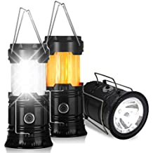 Portable Camping Lantern Light - Flyhoom Tent Flame Flash Collapsible Survival Lights for Hurricane, Emergency, Storm, Outages, Outdoor,2 Pack 2018 Upgraded,(Batteries Not Included)