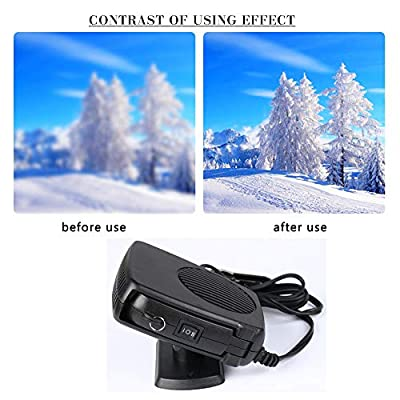 Car Heater Defroster 2020 Upgrade Portable Anti-Fog 200W 12V Plug in Cigarette Auto Heater Fan 2 in 1 Fast Heating/Cooling with Ergonomic Handle Windshield Defogger Demister De-Icer: Car Electronics