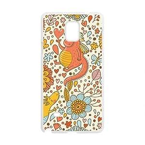 Cartoon Flower And Dinosaur Phone Case for Samsung Galaxy Note4