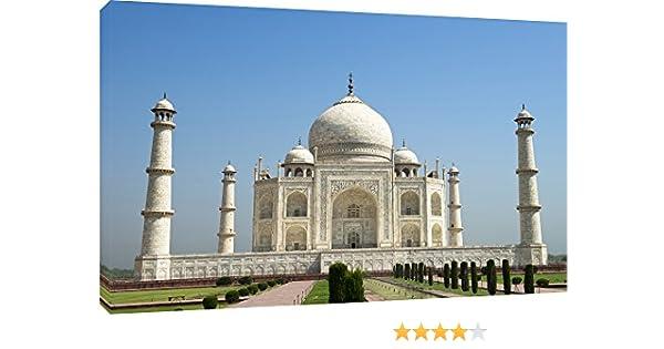 MOOL – Lienzo Decorativo (81,3 x Taj Mahal Cielo Azul impresión de Lienzo, Grande, Multicolor, 32: Amazon.es: Hogar