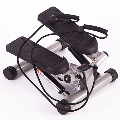 Stepper Fitness, CRAVOG LCD Display Stepper Crosstrainer für Aerobic- Übungen und zur Verbesserung der Kondition