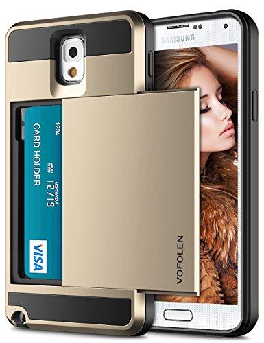 Note 3 Case, Vofolen Galaxy Note 3 Case Wallet Credit (Hard Pocket)