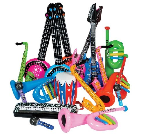 Rock Band Inflate Instrument Set