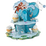 Bargain World Zoo Adventure Cupcake Stand (With Sticky Notes)