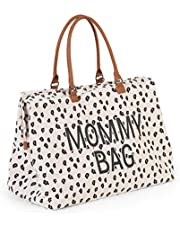 Childhome Mommy Bag Large Leopard Print Changing Bag with Changing Mat 55 x 30 x 30 cm