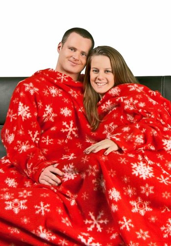 Red Snowflakes Dutch Oven Blanket with Sleeves, ML