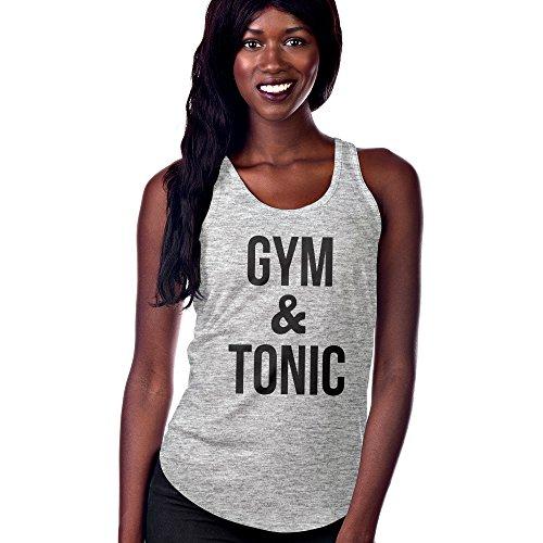 Women Tonic - USA Threadz Gym and Tonic Grey Tank with Scallop Bottom