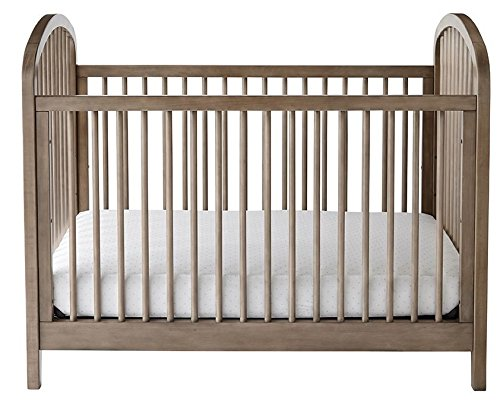 3-in-1, Easy-to-Assemble, Elston Convertible Crib - Built-In Hardware, 3 Mattress Height Positions, Antique Gray ()