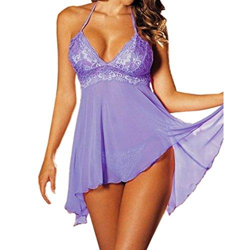 Wholesale ENJOYNIGHT Women's Sleepwear Plus Size Mini Dress Lingerie Lace Nightwear free shipping