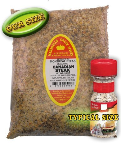 CANADIAN STEAK SEASONING - REFILL- (compare to Montreal Steak SeasoningFRESHLY PACKED IN FOOD GRADE HEAT SEALED POUCHES 15 oz by Marshall's Creek Spices