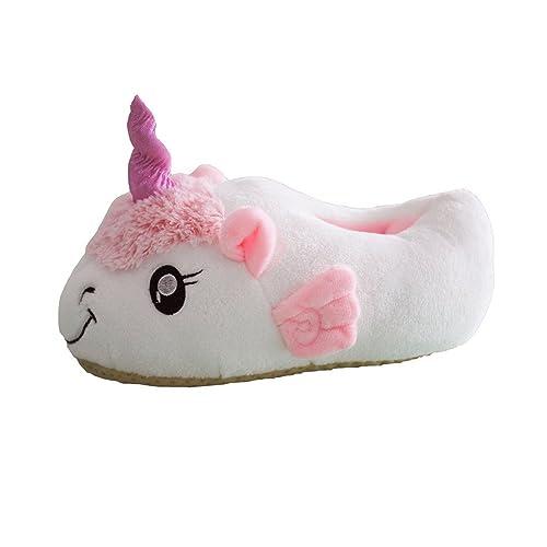 Dulce Unicornio Felpa Suave Calentar Zapatillas Mujer Zapatos 1 Talla para Todos, 36-41: Amazon.es: Zapatos y complementos