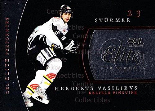 (CI) Herberts Vasiljevs Hockey Card 2009-10 German DEL Premium Elite Performers 8 Herberts Vasiljevs (Elite Single City 2009)