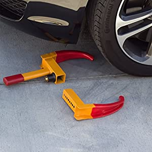 Heavy Duty Automotive Anti Theft, Towing Wheel Clamp Boot Tire Lock for Car Truck RV Boat Trailer