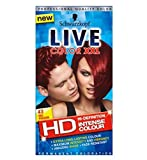 Now in HD,, Red Passion offers extra long-lasting, intense colour and amazing shine, so you can show off your inner confidence with ease. The LIVE Color XXL HD Technology intensively saturates each hair strand for high-definition colour that's highly...