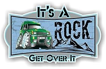 Koolart Cartoon It S A Rock Get Over It Slogan Design With Retro