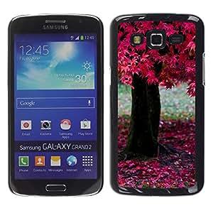 TopCaseStore / la caja del caucho duro de la cubierta de protección de la piel - Nature Beautiful Forrest Green 195 - Samsung Galaxy Grand 2 SM-G7102 SM-G7105