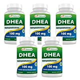 Best Naturals DHEA 100mg Supplement 60 Capsules (Pack of 5)