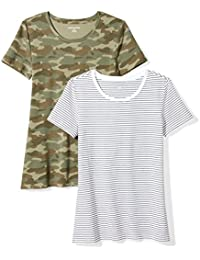 b5a0f020cf01b Women s 2-Pack Classic-Fit Short-Sleeve Crewneck T-Shirt