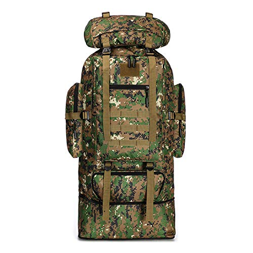 FKDG Hiking Backpack - 100l Large-Capacity Scalable Can Expand Camouflage Mountaineering Bag Outdoor Sports Backpack Hiking Camouflage Backpack Camping Backpack,B