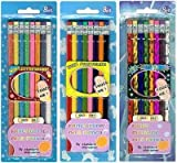 A & W Pencils Assorted Glitter, Fuzzy, 8-Count (12-Pack)