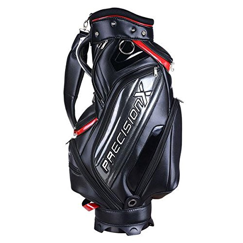 5-Way Golf Stand & Carry Bag Clubs Storage Black & Red
