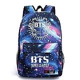 JUSTGOGO Luminous Korean Casual Backpack Bookbag Daypack Laptop Bag College Bag School Bag (1)