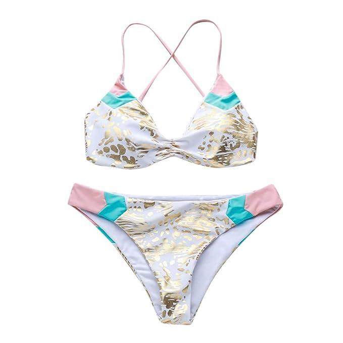 SCHOLIEBEN Traje De BañO De Dos Piezas Pushups Bikini con ...