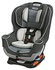 """The American Academy of Pediatrics recommends children ride rear-facing until at least 2 years of age. Extend2Fit convertible car seat features a 4-position extension panel that provides 5"""" of extra legroom allowing your child to ride safely ..."""